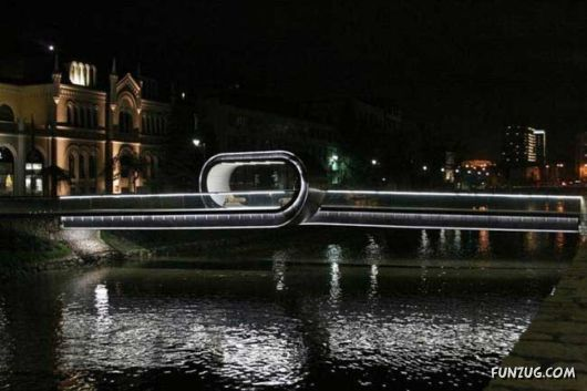 Amazing Pedestrian Bridge In Sarajevo