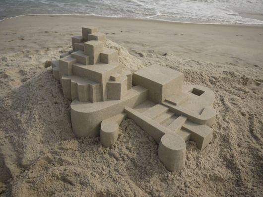 3D Geometric Sand Sculptures