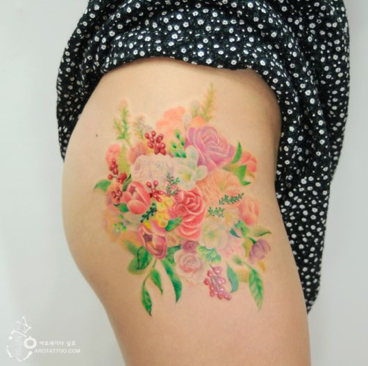 Amazing Flower Tattoos Mimic Watercolor Paintings On Skin