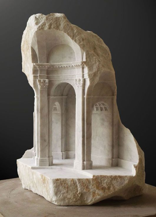 Classical Interiors Carved Into Marble And Stone