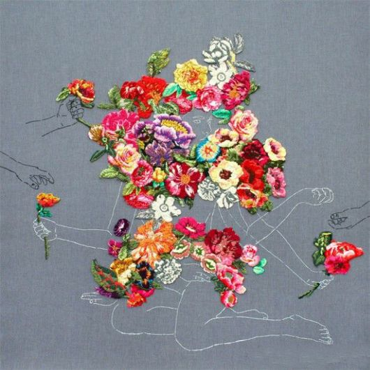 Embroidered Landscapes And Plants