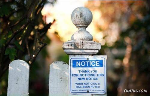Funny Notices To Bring A Smile On Your Face
