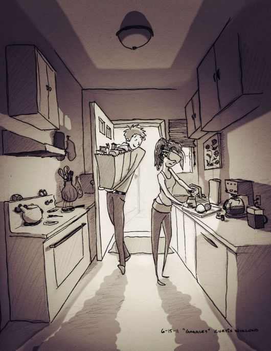Loving Husband Illustrated Every Single Day He Spent With His Beloved Wife In His Drawings