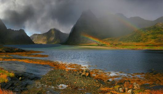 Stunning Breathtaking Photos Of Rare Double Rainbows
