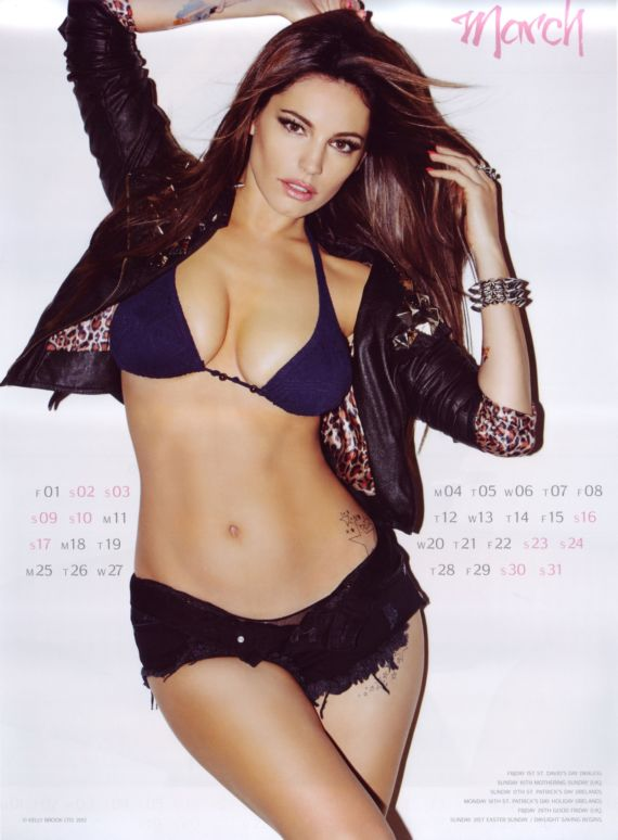 Click to Enlarge - Kelly Brook Official 2013 Calendar Shoot