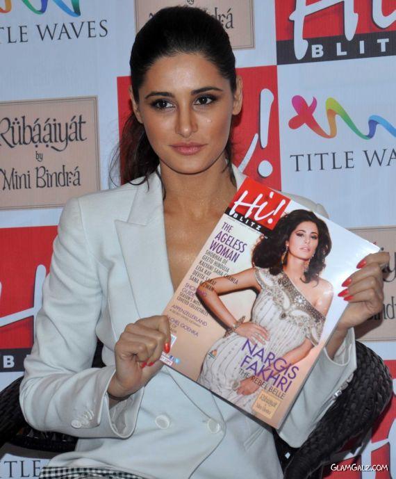 Stylish Nargis Fakhri At Hi Blitz Magazine Launch