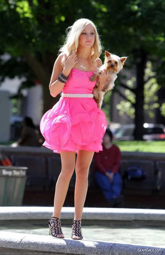 Pretty Ashley Tisdale in Pink