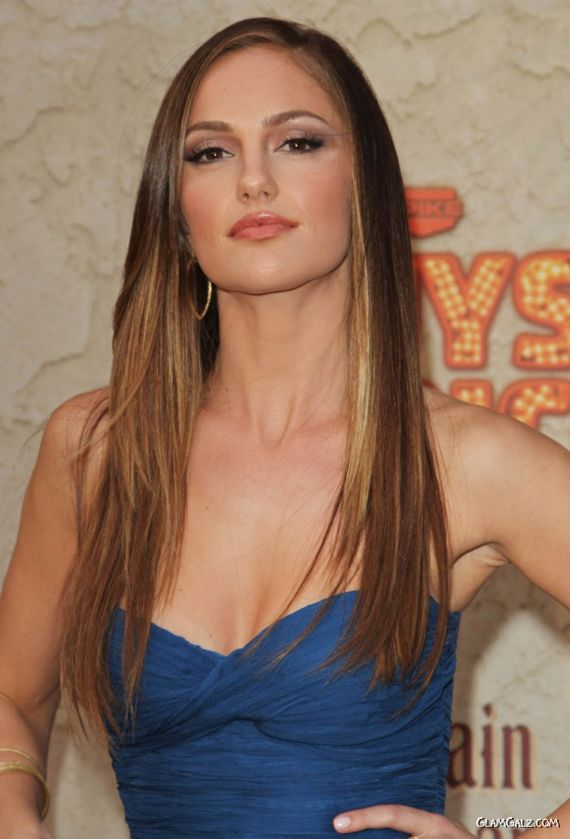 Beautiful Minka Kelly in Blue