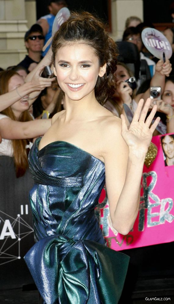 Cute Nina Dobrev Greeting Her Fans