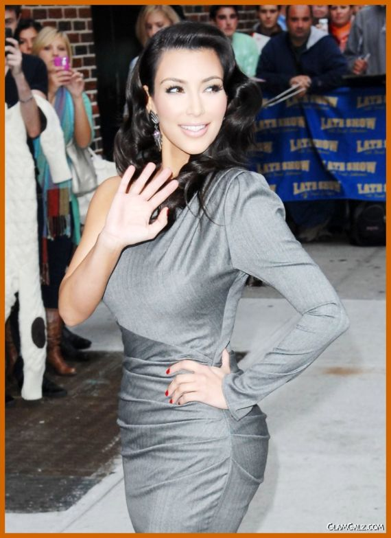 Lovely Miss Kardashian at The Late Show